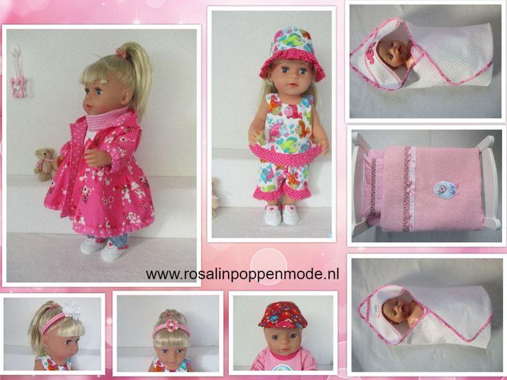 www.rosalinpoppenmode.nl Voor Baby Born Girl& Sister