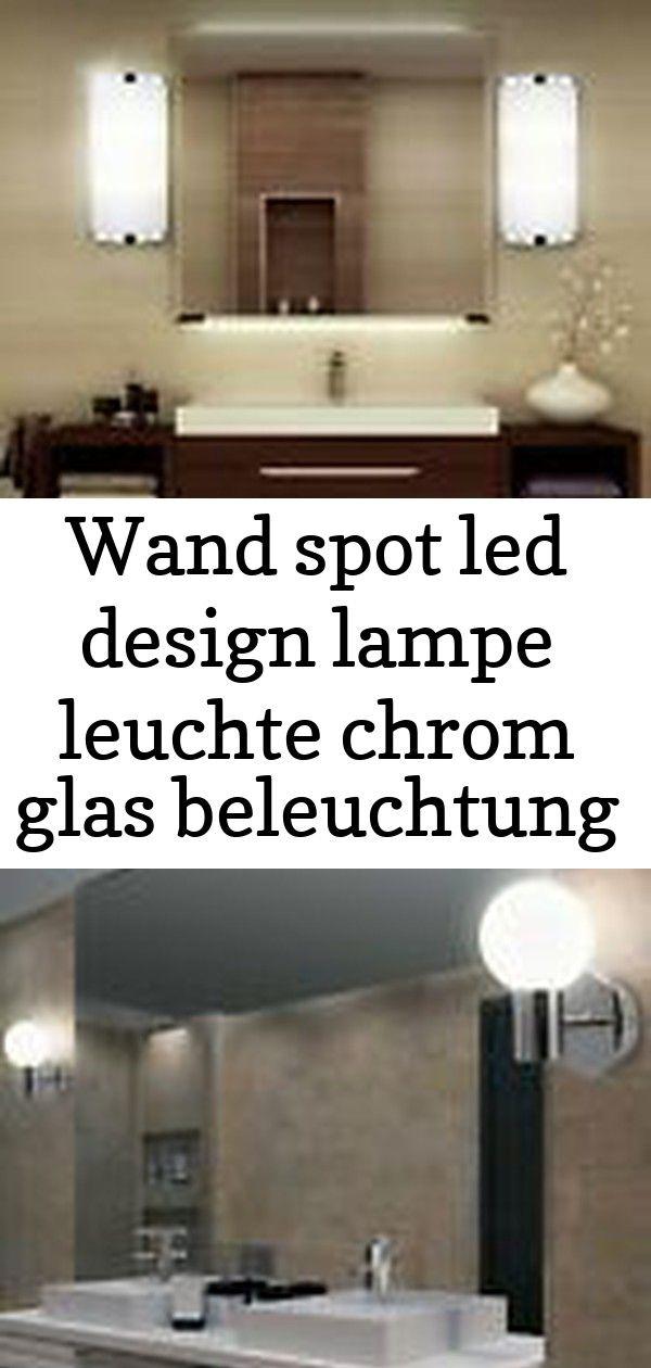 Wand Spot Led Design Lampe Leuchte Chrom Glas Beleuchtung Flur Diele Buro Kuche 2er Set Led Beleuchtungen Badezimmer Lamp Design Glass Lighting Corridor Design