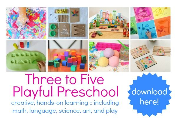 An excellent resource of preschool activities, toghether with 10 printables. Includes math, literacy, art, science and play ideas for thre to fice year olds. Click through to download your copy.
