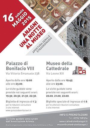 Apertura serale Musei Anagni 16 maggio 2015