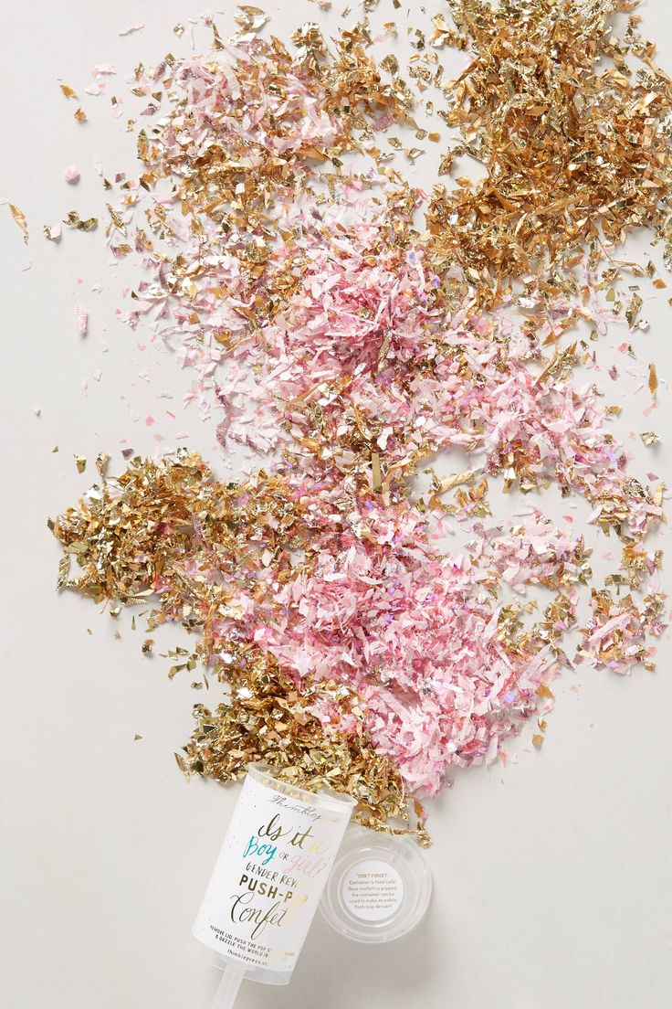 omg seriously! anthropologie is on it!  how awesome are these gender reveal confetti push pops!! such a fun and unique idea!