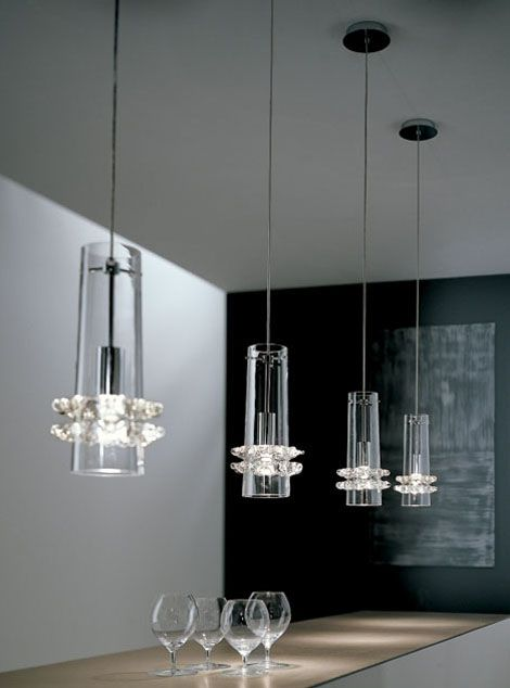 163 best chandeliers images on pinterest light design for Contemporary kitchen pendant lighting