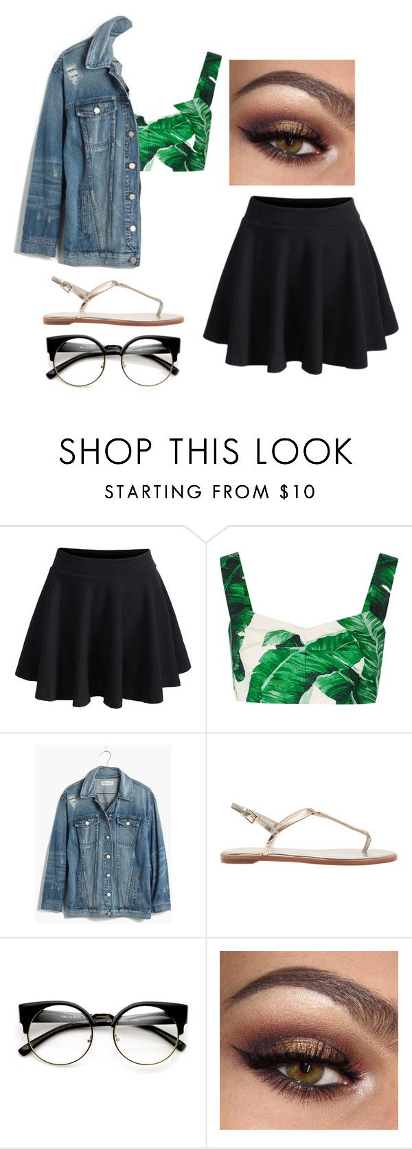 """Outfit #24"" by unicornicamitha on Polyvore featuring WithChic, Dolce&Gabbana and Madewell"