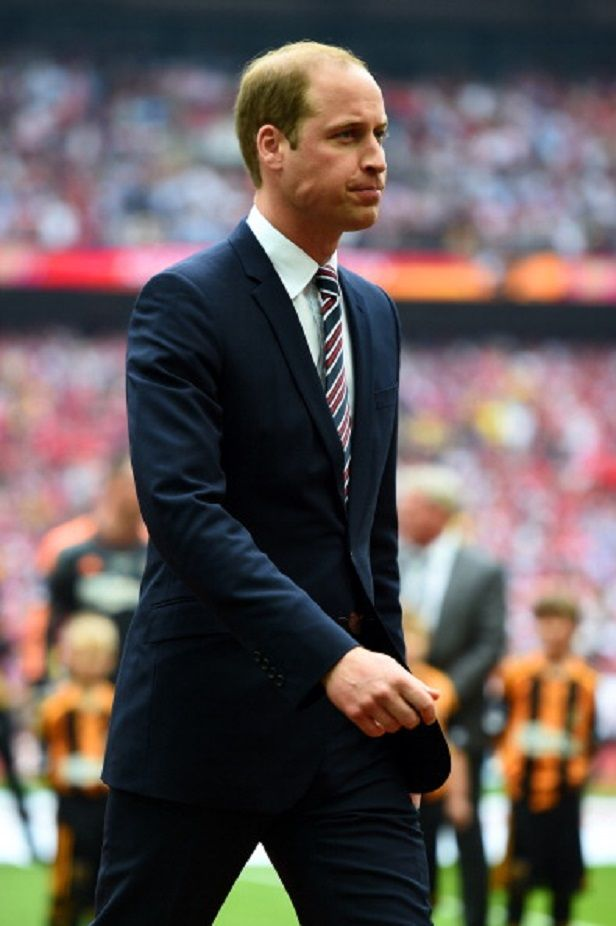 President of the Football Association, Prince William, Duke of Cambridge looks on before the FA Cup with Budweiser Final match between Arsenal and Hull City at Wembley Stadium, 17.05.2014 in London, England.
