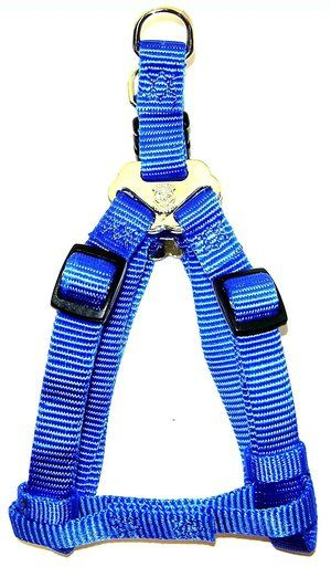 Dog Harness Adjustable Easy-On Step-In Style Nylon Web 3/8 inch 10-16 X-Small Blue