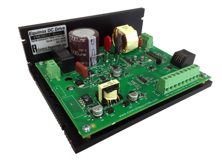 Equinox Brushed DC Variable Speed Motor Drive  Quick to copy and program, Equinox uses Control Resources Navigator hand held menu driven programmer.
