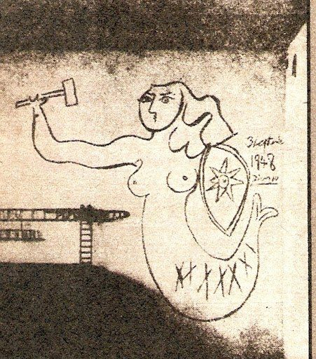 """Picasso's """"Syrenka"""" from his visit to Warsaw in 1948"""