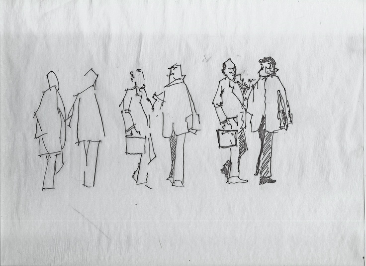 architecture scale people drawing process | my architecture