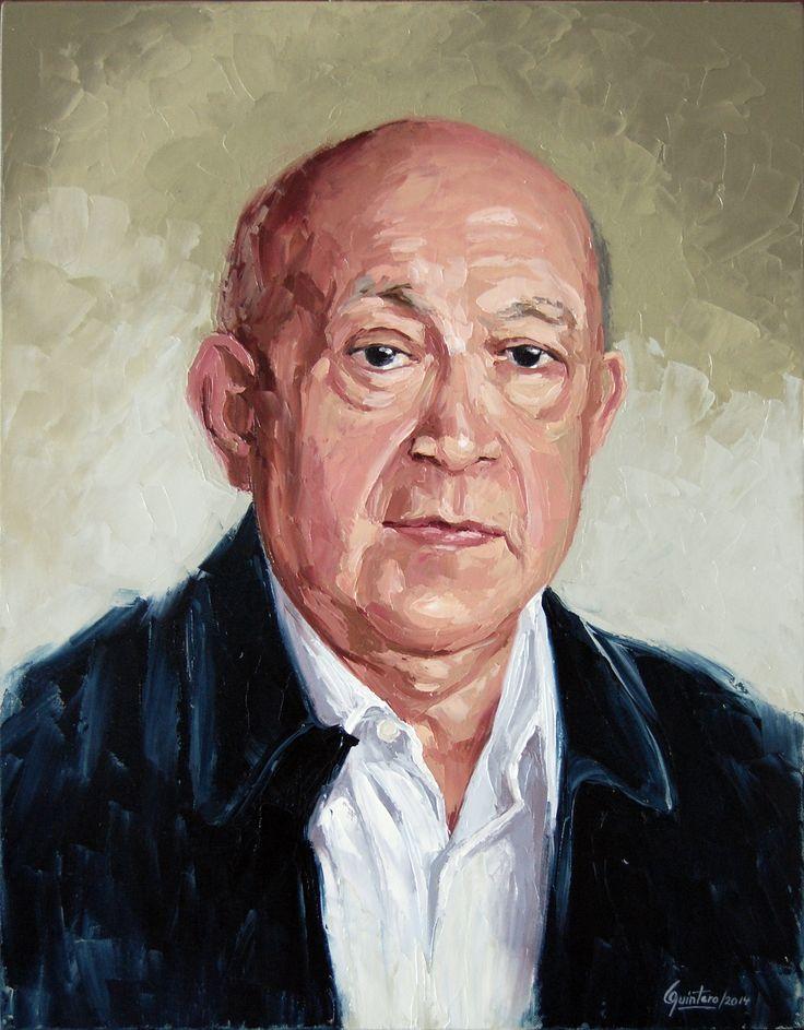 Retrato - Oleo con espátula sobre lienzo - 61 x 46 cm - 2014