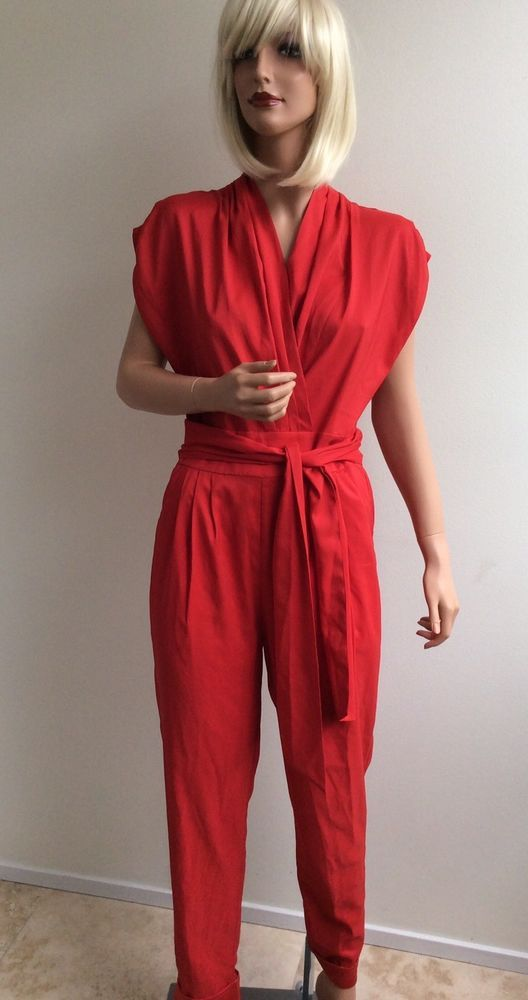 df23274647a French Rendez Vous Red jumpsuit size 6  FrenchRendezVous  Jumpsuit ...