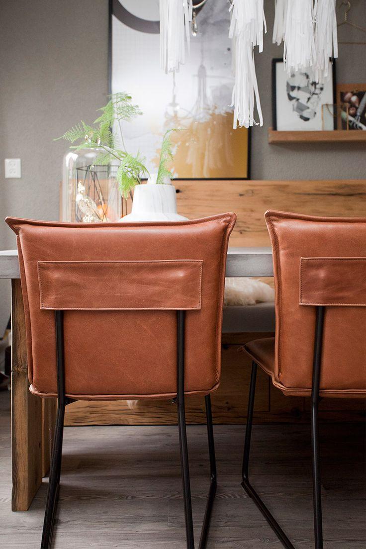 25 best eiken stoelen en banken images on pinterest benz for Eetkamerstoel kuip leer