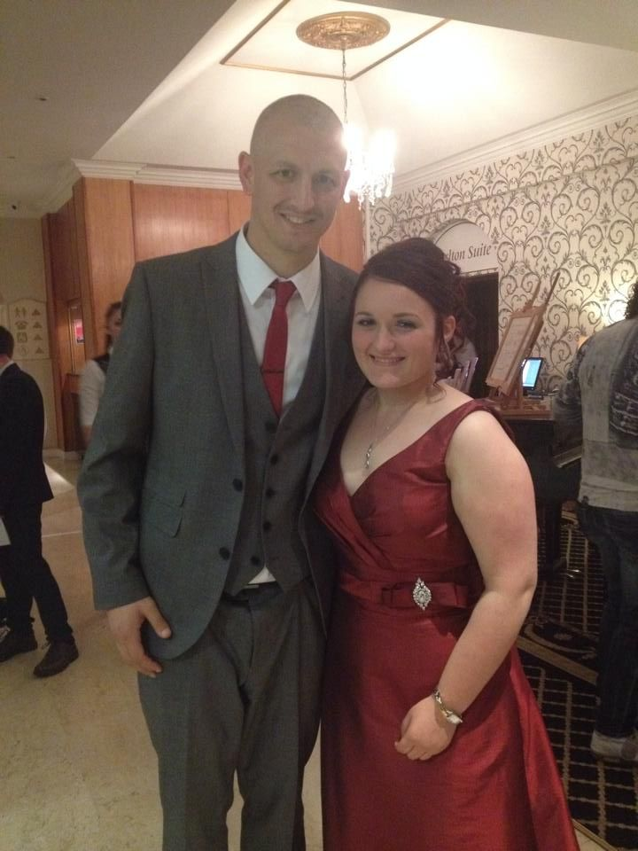 Prom night - me and Kane (Mr Tomlinson)