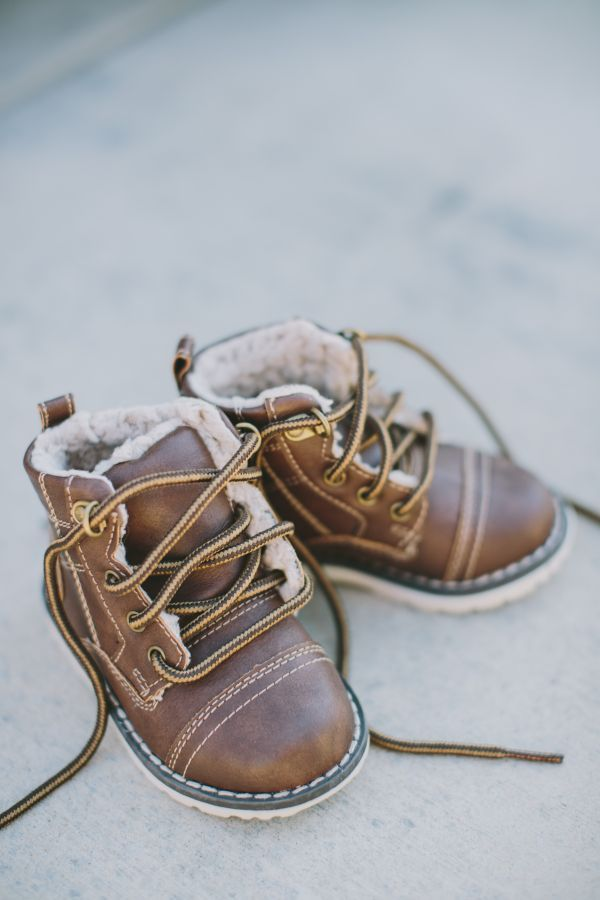 lace up leather boots for baby