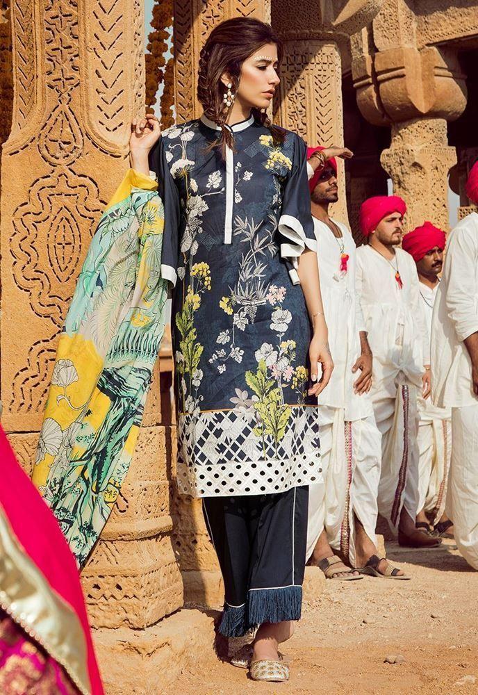 93b45e06b9 Latest Pakistani Lawn Brands Designer Dresses Collections 2019 ...