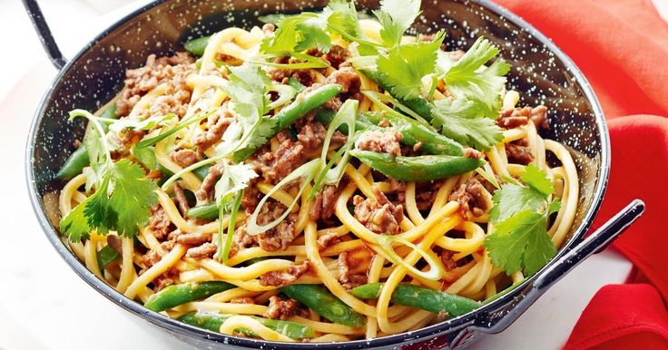 Have dinner on the table in 20 minutes with this tasty lamb and noodle stir-fry.