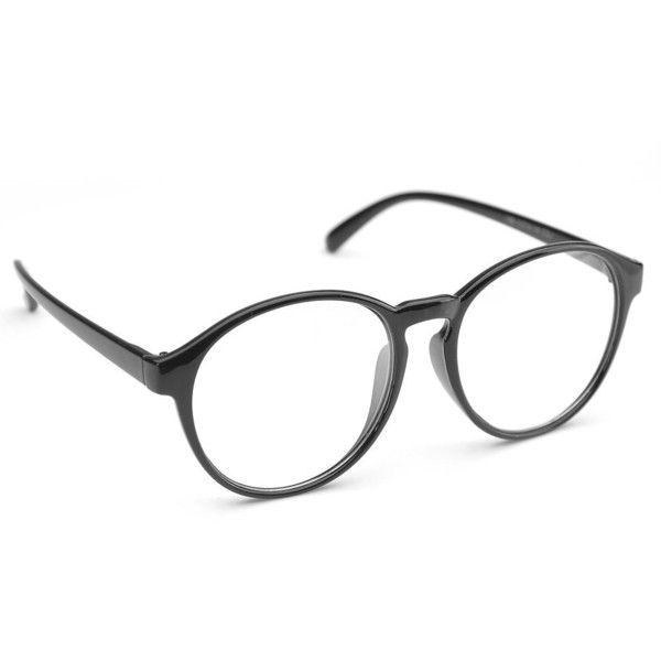 Amazon.com: PenSee Oversized Circle Eyeglasses Frame Inspired Horned...  ($9.99