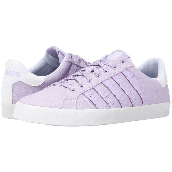 K-Swiss Belmont SO T Women's Tennis Shoes, Purple ($33) ❤ liked on Polyvore featuring shoes, purple, lace up tennis shoes, k swiss shoes, light weight tennis shoes, lightweight tennis shoes and striped shoes