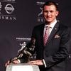 Johnny Manziel celebrated his Heisman Trophy on Twitter shortly after winning the prestigious award.
