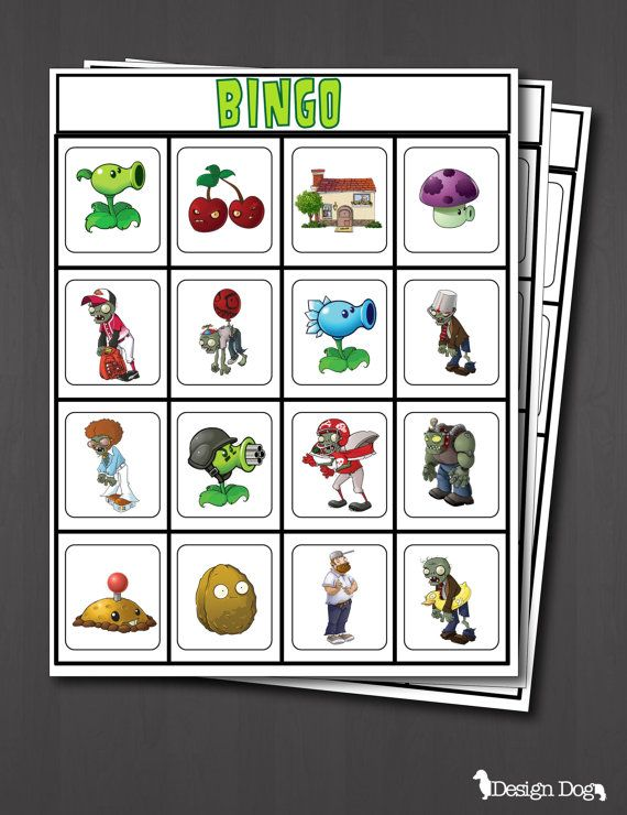 zombies party bingo game set of 14 cards - Zombie Party Supplies