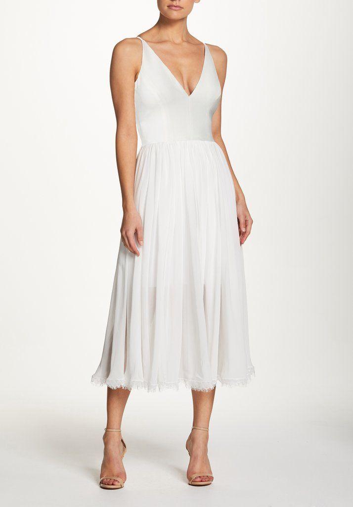 53e700945a9d Alicia Midi Dress in 2019   One day...   White midi dress, Dress the ...