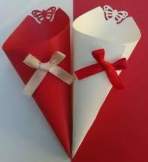 Risultati immagini per confettata matrimonio rosso