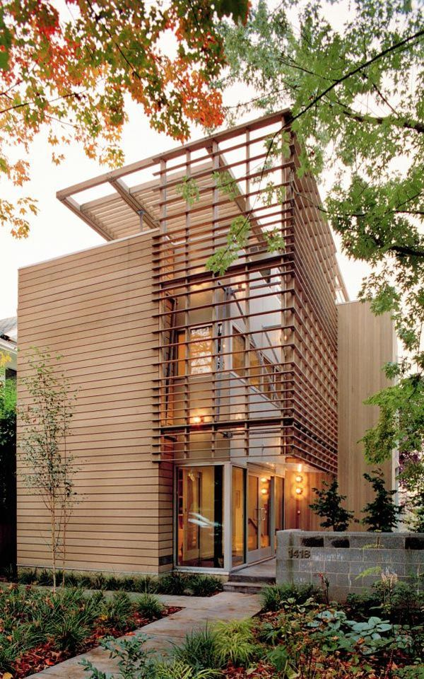 Best Product Description of Narrow Block House Designs: Rustic Urban Narrow Block House Designs Wooden Material Small Garden ~ pofidik.com Contemporary Home Designs Inspiration