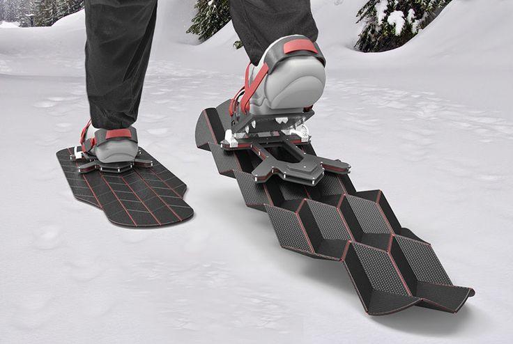 Eric Brunt's Flux Snowshoes Transform With Each Step