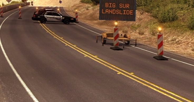 American Truck Simulator closes in-game California highway after real life landslide: The developers behind American Truck Simulator have…