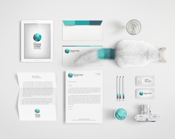 Glasswear Industries Identity by Nina Geometrieva, via Behance