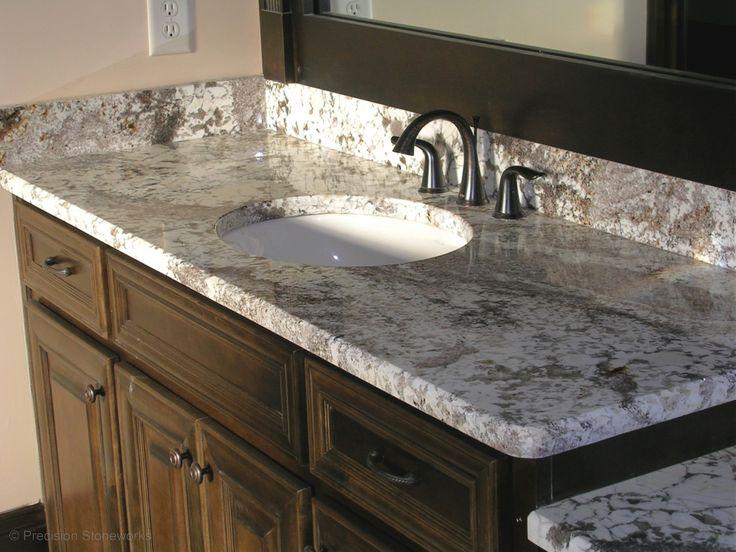Image On Langley IC Stone and Granite countertops Bath Reno Pinterest White granite Granite and Countertops