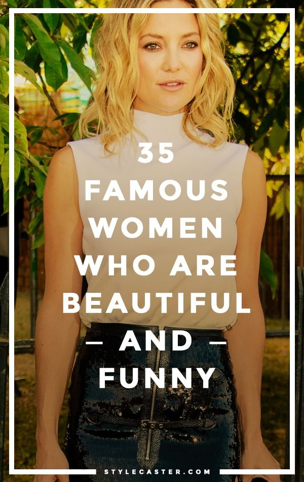 """Beautiful women aren't funny,"" says former Disney CEO Michael Eisner. Um, Sorry Eisner, have you heard of Tina Fey? Sofia Vergara? Kate Hudson? // 35 beautiful AND wildly funny women in entertainment. StyleCaster.com"