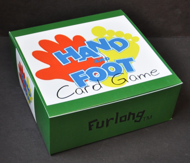 A box created for the Hand & Foot Card Game designed and