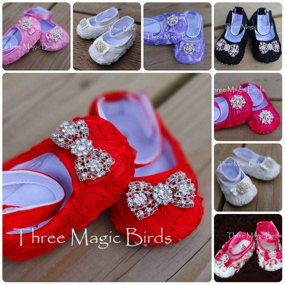 Baby Girl Christmas RED Crib Shoes Toddler Shoes Christening Baptism Wedding Special Occasion Shoes Baby Girl 1 Birthday Shoes Baby 1 Outfit on Etsy, $12.95