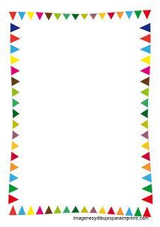 banderitas de fiestas Folios infantiles para imprimir
