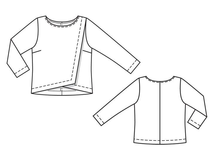 Numer Wzór 115 Magazyn 4/2014 Burda - - bluzki wzory na bluzki Burdastyle.ru