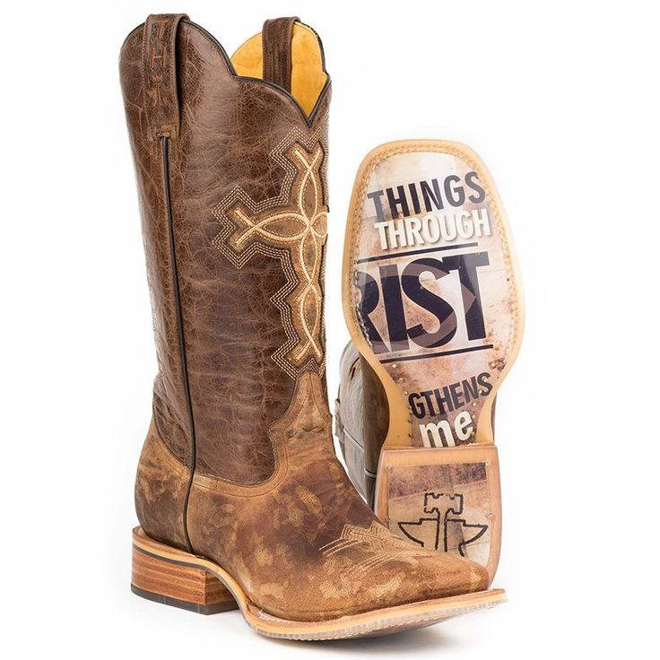 "Tin Haul Men's 13""- 'Ichthys Aroundus' Cowboy Boot (1402000070222)"