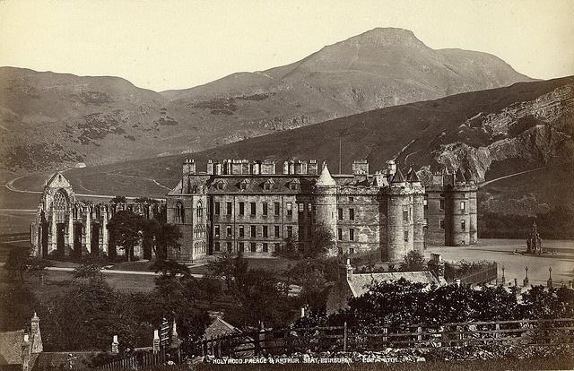 G.W. Wilson & Co - Holyrood Palace & Arthur Seat, Edinburgh, 1880c