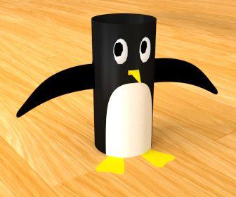 Willen je kinderen knutselen in de paasvakantie? Maak dan deze pinguin uit wc-rolletjes is super schattig en helemaal niet moeilijk om te maken.