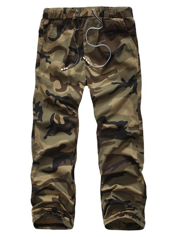 Mens Joggers Pants Male Cargo Pants Solid Slim