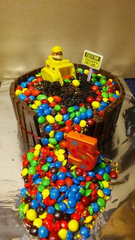 Paw Patrol Kit Kat M Amp M Rubble Cake Cakes Pinterest