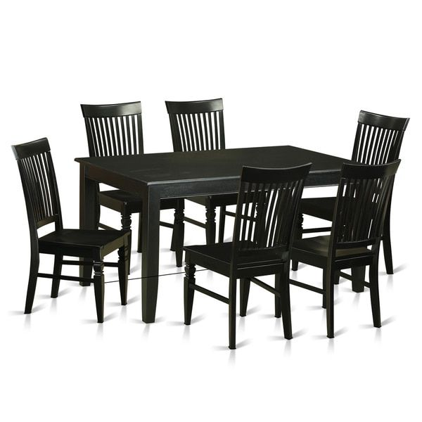 1000 ideas about black dining room sets on pinterest for Traditional black dining room sets