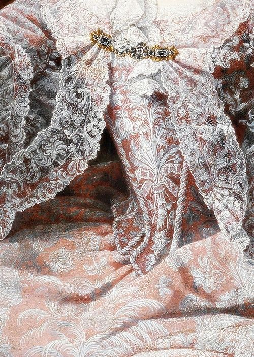 Empress Maria Theresa, sovereign of Austria by Martin van Meytens, 18th #Art #Detail