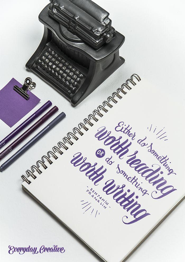 Either write something worth reading or do something worth writing ― Benjamin Franklin #everydaycreative