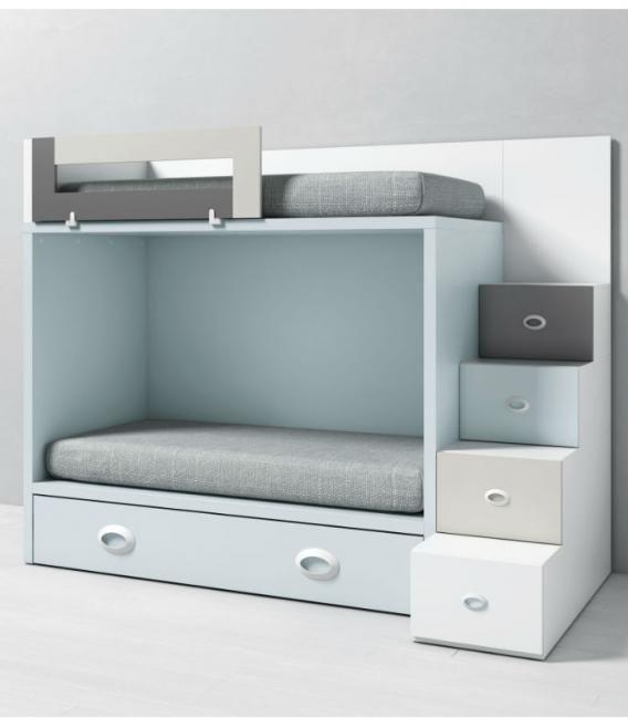 Litera infantil DADO con cama nido y acceso lateral