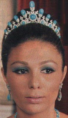 Tiara Mania: Turquoise Tiara worn by Empress Farah of Iran