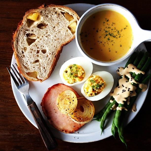 Today's breakfast #breakfast #food #soup - @keiyamazaki   Webstagram