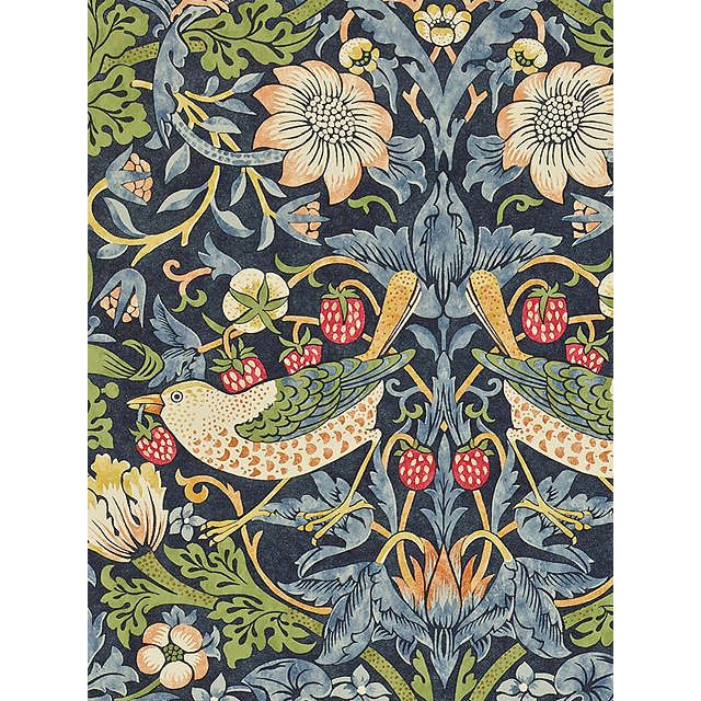 BuyMorris & Co Strawberry Thief Wallpaper, 212564 Online at johnlewis.com