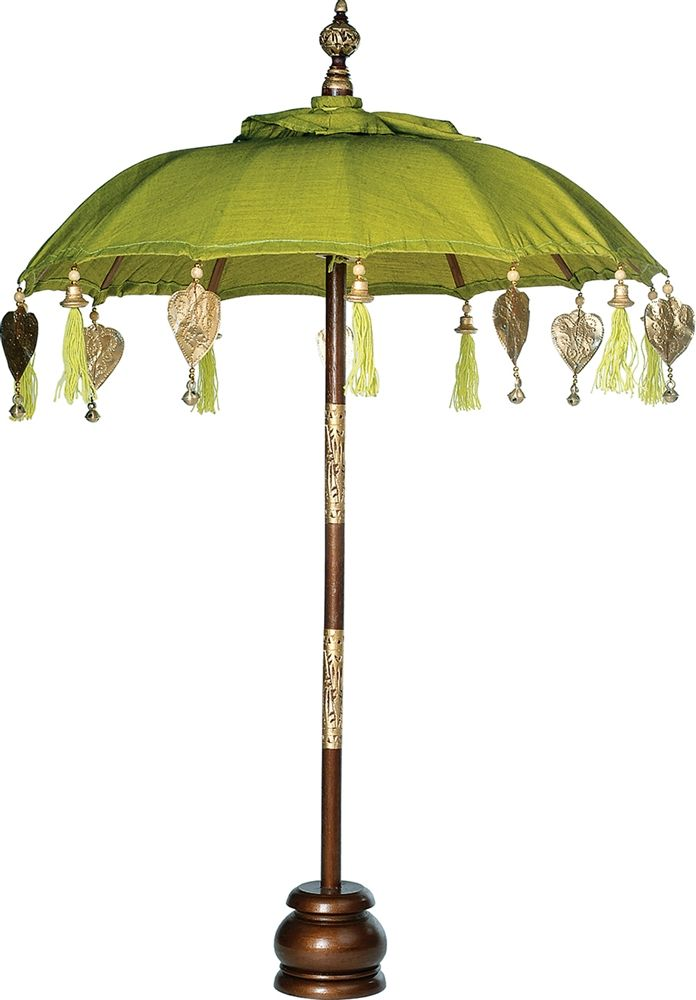 Balinese Festival Tabletop Parasol (24-Inch Umbrella, 37-Inch High, Chartreuse Green)