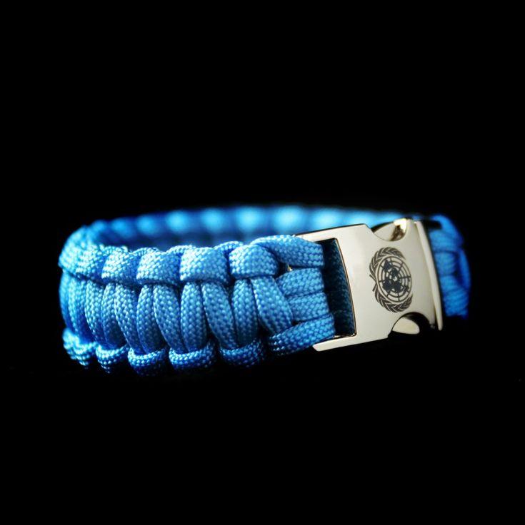 Paracord Verenigde Naties VN blauw - Stoer Armbanden