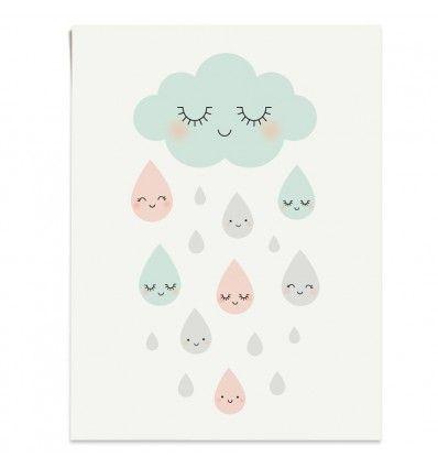 Affiche Douce pluie Zü (ZU)